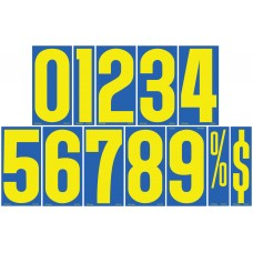 9 1/2 in. Blue & Yellow Adhesive Windshield Numbers