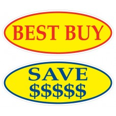 Oval Message Adhesive Windshield Signs