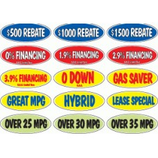 Oval Incentive Adhesive Windshield Slogans