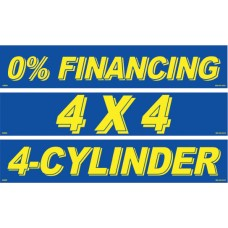 Blue & Yellow Message Slogan Adhesive Windshield Signs