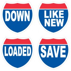 Interstate Message Slogan Adhesive Windshield Signs