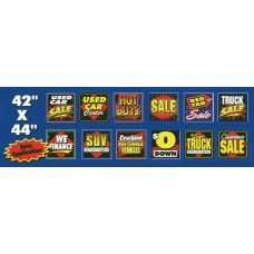 42 in. x 44 in. Light Removable Adhesive Showroom Message Signs