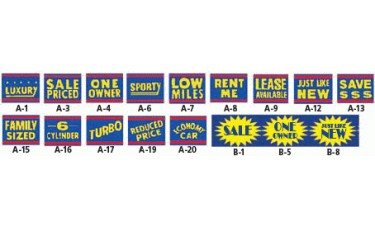 Reusable Static Cling Message Windshield Signs