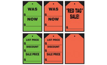 Stick On Tags Adhesive Windshield Signs