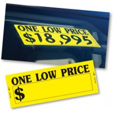 One Low Price Adhesive Windshield Stickers