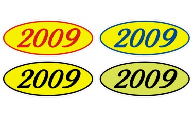 Euro Style Year Model Adhesive Windshield Signs