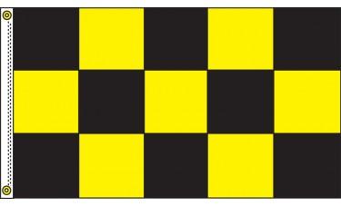 Checkered Black/Yellow 3' x 5' Flag Outdoor Nylon