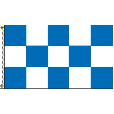 Checkered Blue/White 3' x 5' Flag Outdoor Nylon