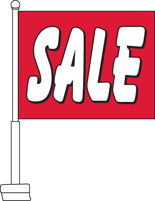 Sale Red Car Flag