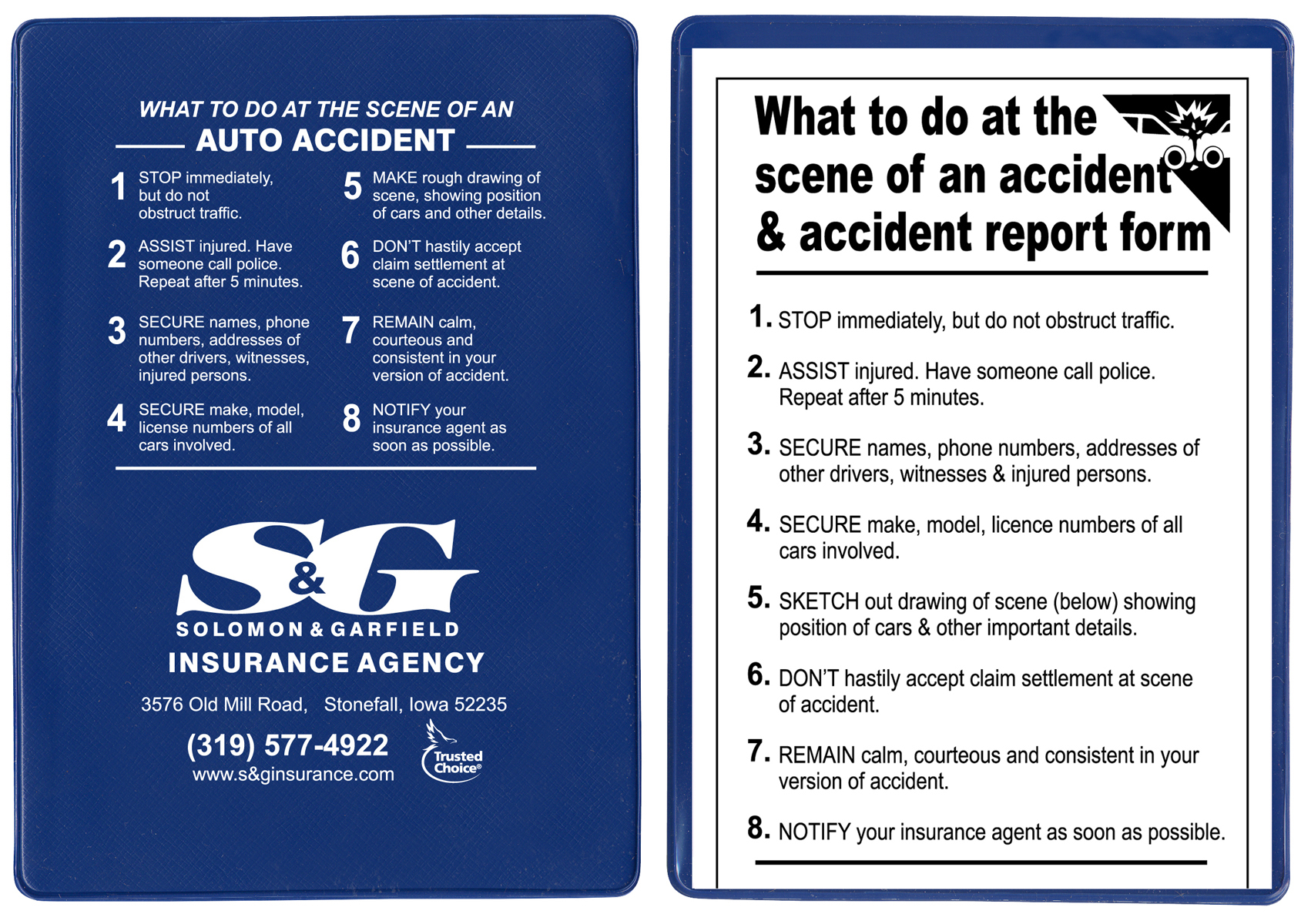 """Insurance Card Holders """"At The Scene"""" Kits - 5-3/4""""(W) x 4 ..."""