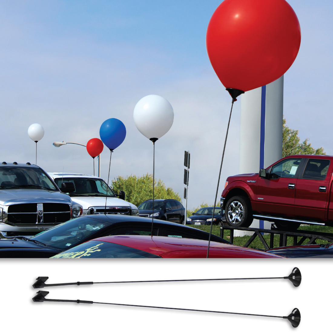 Car Window Balloon Holder For 17 In Latex Balloons 2 Piece