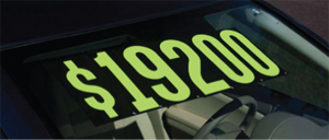 Windshield Pricing Number Stickers For Cars - Printed In USA